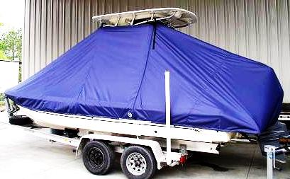 Scout 220 Bay Scout, 20xx, TTopCovers™ T-Top boat cover side