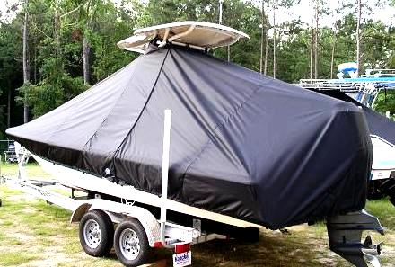 Scout 221 Winyah Bay, 20xx, TTopCovers™ T-Top boat cover rear
