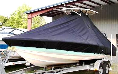 Scout 221 Winyah Bay, 20xx, TTopCovers™ T-Top boat cover side