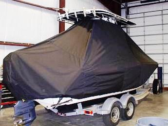 Scout 222SF, 20xx, TTopCovers™ T-Top boat cover rear