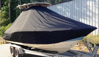 Scout 225XSF Canvas T Top, 20xx, TTopCovers™ T-Top boat cover, starboard front