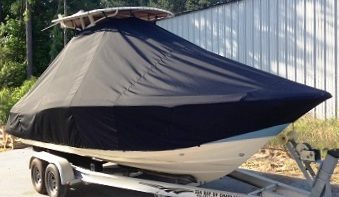 Scout 225XSF Hard T Top, 20xx, TTopCovers™ T-Top boat cover, starboard front