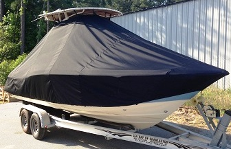 Scout 225XSF, 20xx, TTopCovers™ T-Top boat cover, starboard bow