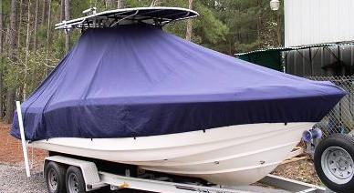 Scout 235 Sportfish Canvas T Top, 20xx, TTopCovers™ T-Top boat cover, starboard front