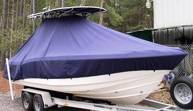 Scout 235 Sportfish Hard T Top, 20xx, TTopCovers™ T-Top boat cover, starboard front