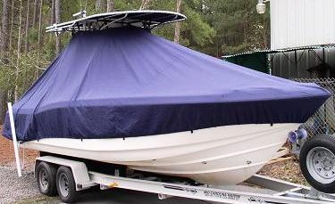 Scout 235 Sportfish, 20xx, TTopCovers™ T-Top boat cover, starboard bow