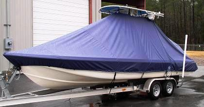 Scout 240 Bay Scout, 20xx, TTopCovers™ T-Top boat cover, port front