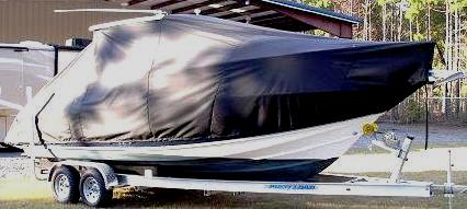 Scout 242 Abaco, 20xx, TTopCovers™ T-Top boat cover side