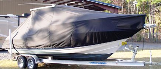Scout 242 Abaco, 20xx, TTopCovers™ T-Top boat cover, starboard front