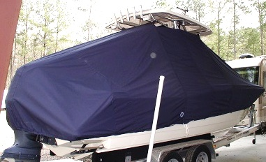 Scout 245 LXF, 20xx, TTopCovers™ T-Top boat cover, starboard rear
