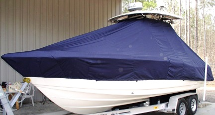 Scout 245 Sportfish, 20xx, TTopCovers™ T-Top boat cover, port front