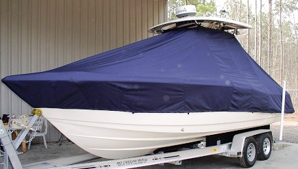 Scout 245 XSF, 20xx, TTopCovers™ T-Top boat cover, port front