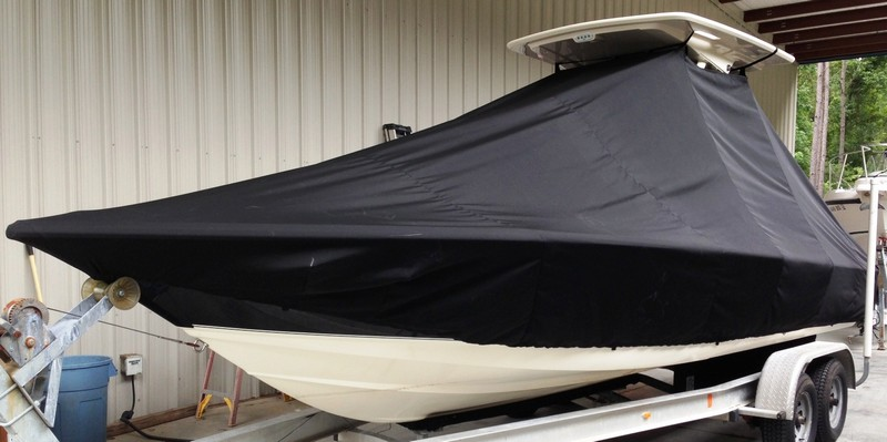 Scout 251 XS, 20xx, TTopCovers™ T-Top boat cover, port front