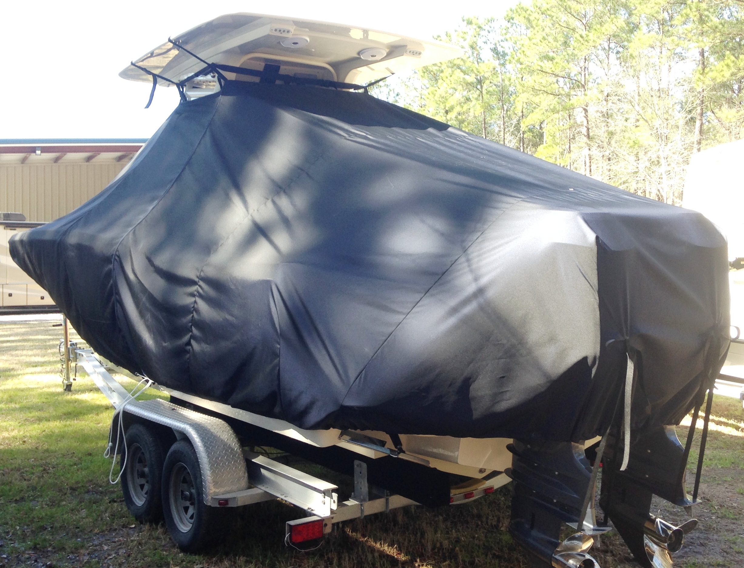 Scout 255 LXF, 20xx, TTopCovers™ T-Top boat cover, port rear
