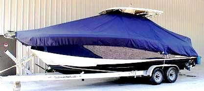 Scout 260 Sportfish, 20xx, TTopCovers™ T-Top boat cover side