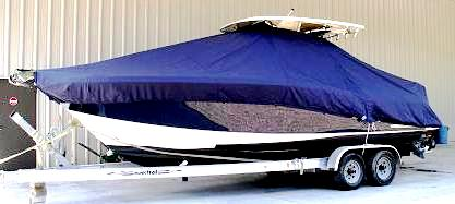 Scout 262 Sportfish, 20xx, TTopCovers™ T-Top boat cover side