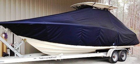 Scout 275 Sportfish, 20xx, TTopCovers™ T-Top boat cover, port front