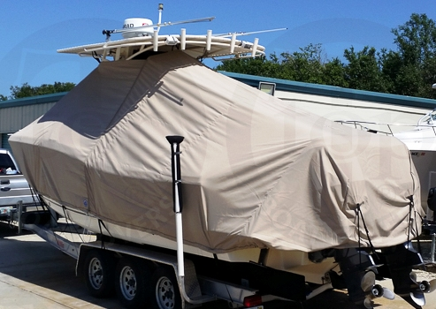 Scout 280 LXF, 20xx, TTopCovers™ T-Top boat cover, port rear
