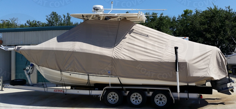 Scout 280 LXF, 20xx, TTopCovers™ T-Top boat cover, port side