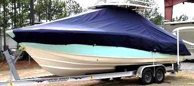 Scout 282 LXF, 20xx, TTopCovers™ T-Top boat cover, port front