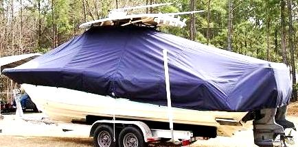 Scout 282 LXF, 20xx, TTopCovers™ T-Top boat cover side