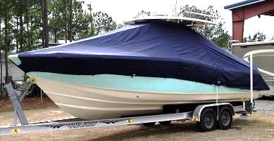 Scout 282 Sportfish, 20xx, TTopCovers™ T-Top boat cover, port front