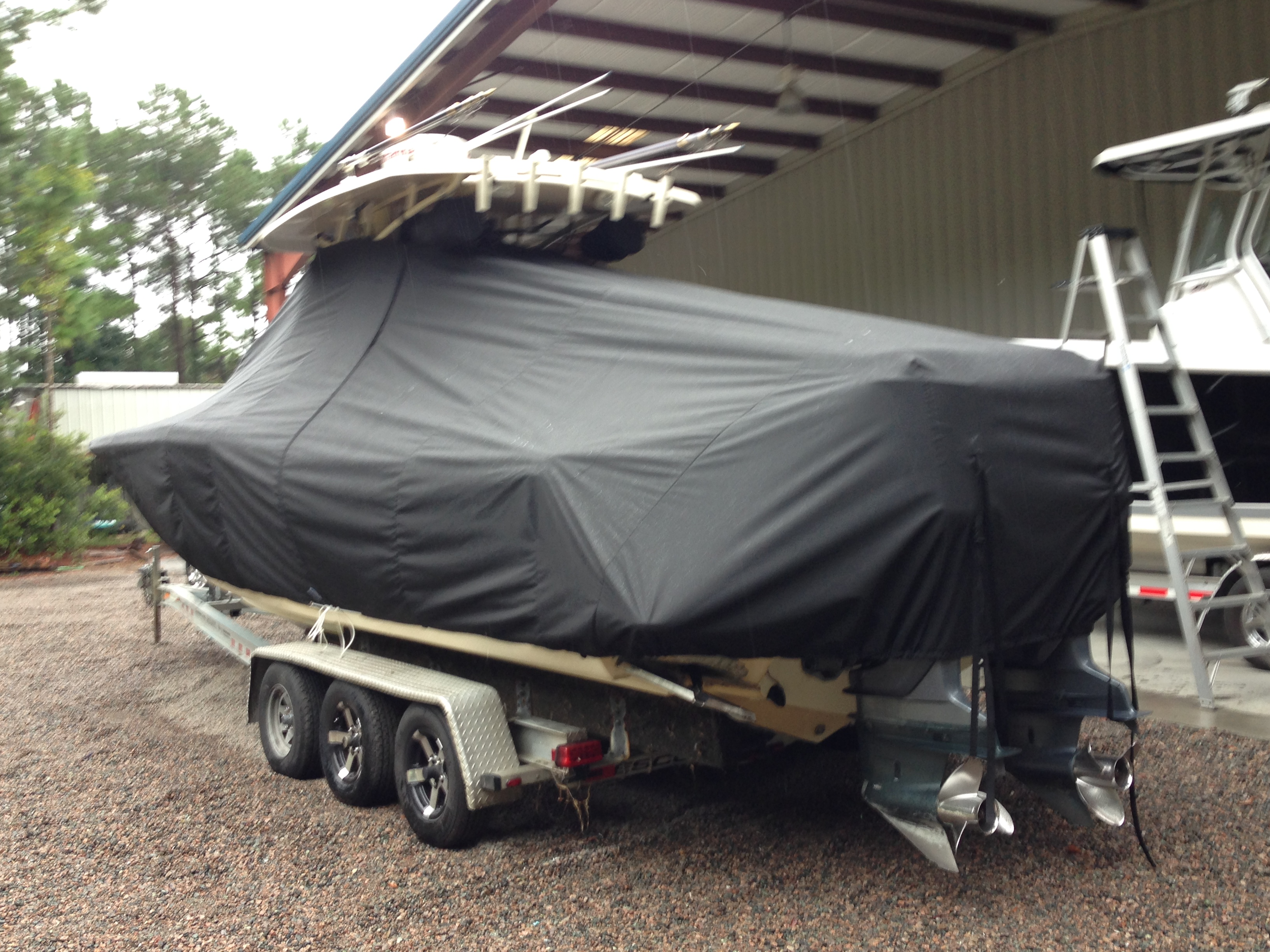 Scout 282 Sportfish, 20xx, TTopCovers™ T-Top boat cover, port rear
