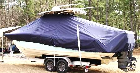 Scout 282 Sportfish, 20xx, TTopCovers™ T-Top boat cover side