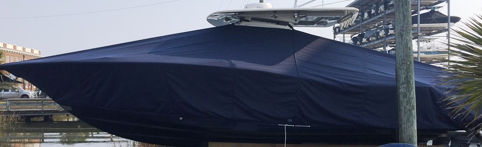 Scout 320 LXF, 20xx, TTopCovers™ T-Top boat cover, port side