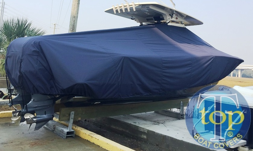 Scout 320 LXF, 20xx, TTopCovers™ T-Top boat cover, starboard rear