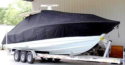 Scout 345 XSF, 20xx, TTopCovers™ T-Top boat cover, starboard front