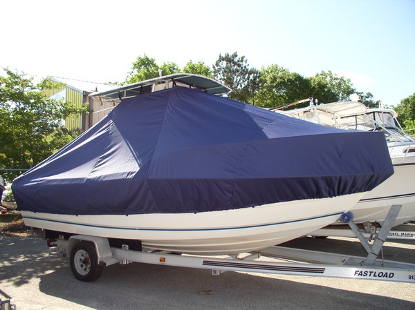 Sea Boss 210CC, 20xx, TTopCovers™ T-Top boat cover, starboard front