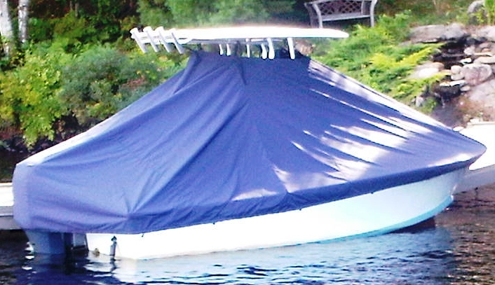 Sea Craft 23CC, 19xx, TTopCovers™ T-Top boat cover In the Water, starboard rear