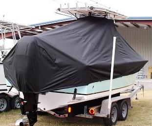 Sea Craft 23cc, 20xx, TTopCovers™ T-Top boat cover stb rear