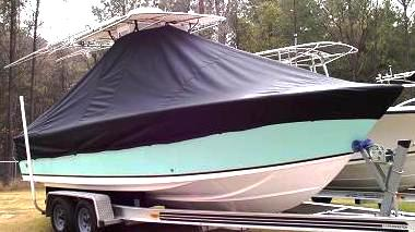 Sea Craft 23cc, 20xx, TTopCovers™ T-Top boat cover, starboard front