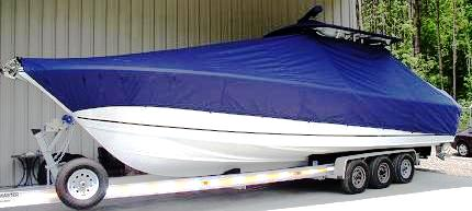 Sea Craft 32cc, 20xx, TTopCovers™ T-Top boat cover, port front