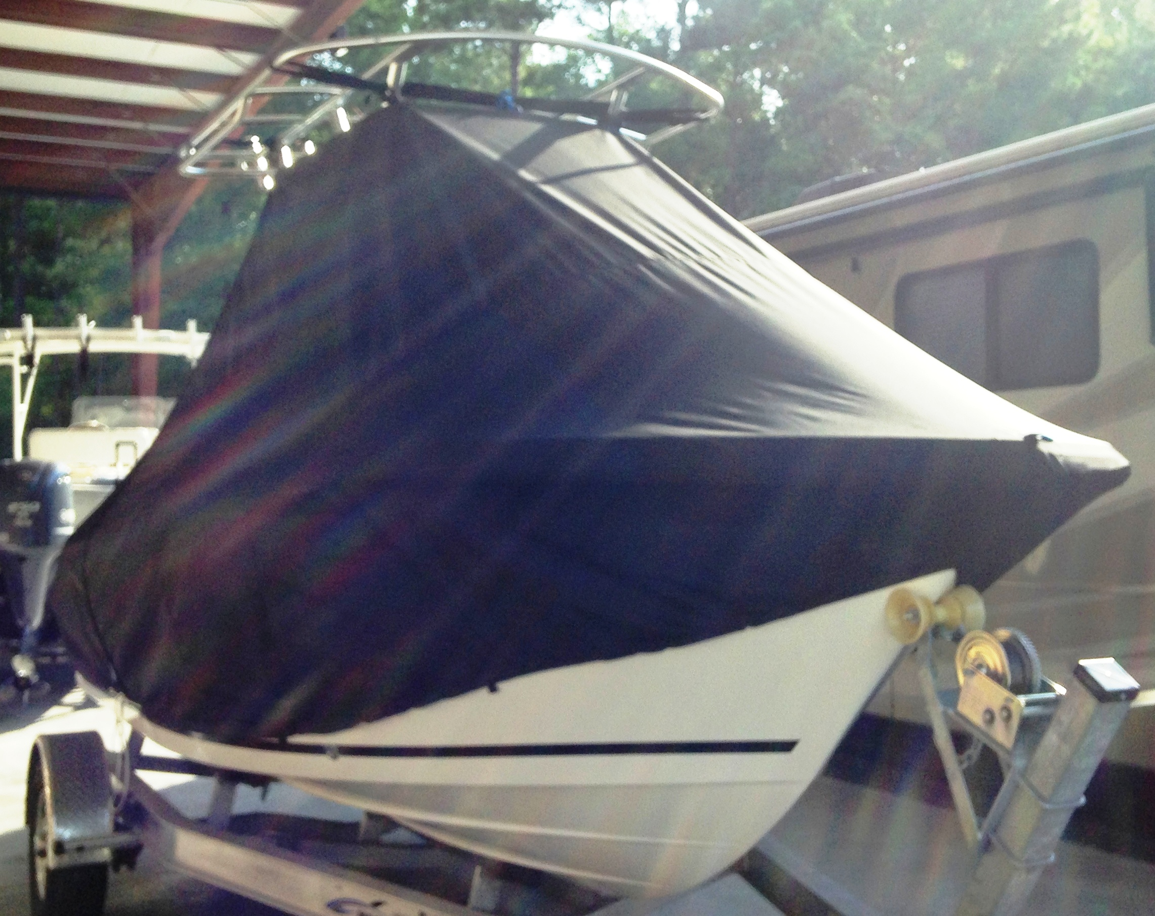 Sea Fox 186CC Commander, 20xx, TTopCovers™ T-Top boat cover, starboard front