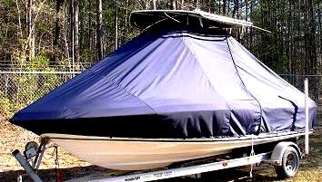 Sea Fox, 199CC Commander, 20xx, TTopCovers™ T-Top boat cover, port front