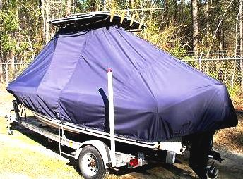 Sea Fox, 199CC Commander, 20xx, TTopCovers™ T-Top boat cover, port rear