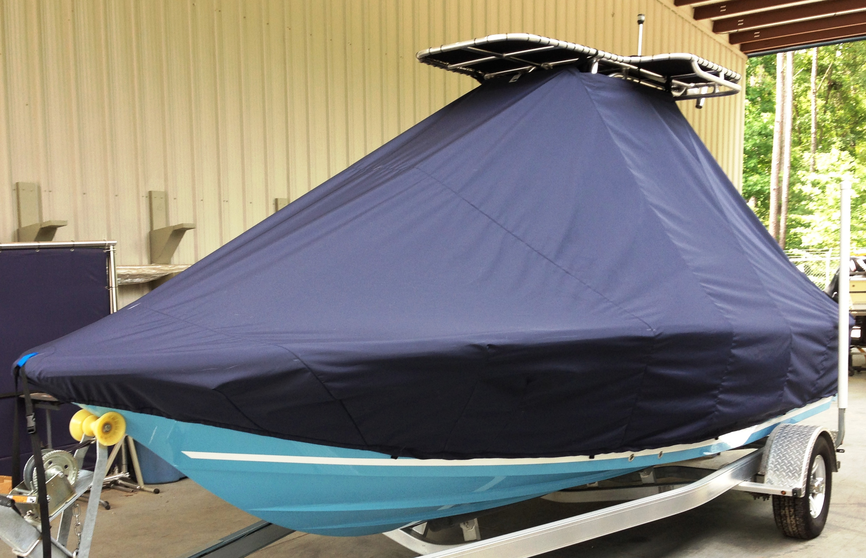 Sea Fox, 200 Viper, 20xx T Top with Wings, TTopCovers™ T-Top boat cover, port front