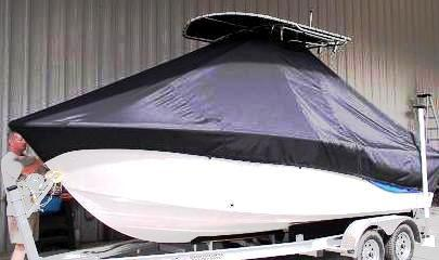 Sea Fox, 206CC Commander, 20xx, TTopCovers™ T-Top boat cover, port front