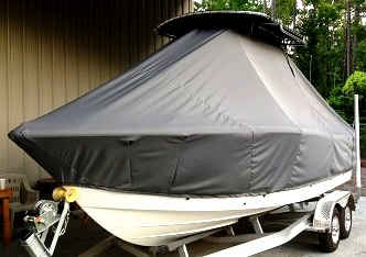 Sea Fox, 209CC Commander, 20xx, TTopCovers™ T-Top boat cover, port front