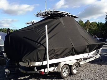Sea Fox 220 Viper, 20xx, TTopCovers™ T-Top boat cover, starboard rear