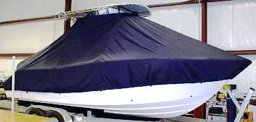Sea Fox 226CC Commander, 20xx, TTopCovers™ T-Top boat cover, starboard front