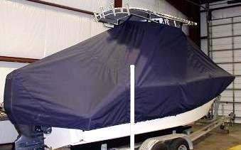 Sea Fox 226CC Commander, 20xx, TTopCovers™ T-Top boat cover, starboard rear