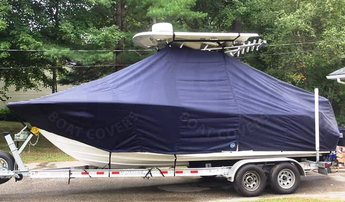 Sea Fox 226CC Commander, 20xx new Hard T Top, TTopCovers™ T-Top boat cover, port side