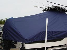 Sea Fox 236CC, 20xx, TTopCovers™ T-Top boat cover 456 Rear 256x192