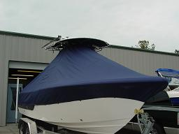 Sea Fox 236CC, TTopCovers™ T-Top boat cover 456 Front 256x192