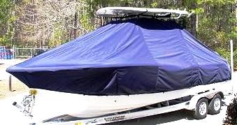 Sea Fox 246CC Commander, 20xx, TTopCovers™ T-Top boat cover, port front