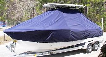 Sea Fox 248CC Commander, 20xx, TTopCovers™ T-Top boat cover, port front
